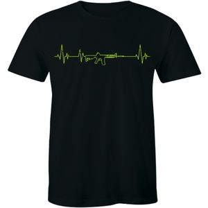 Rifle Heartbeat T-Shirt 2A Second Amendment Pro